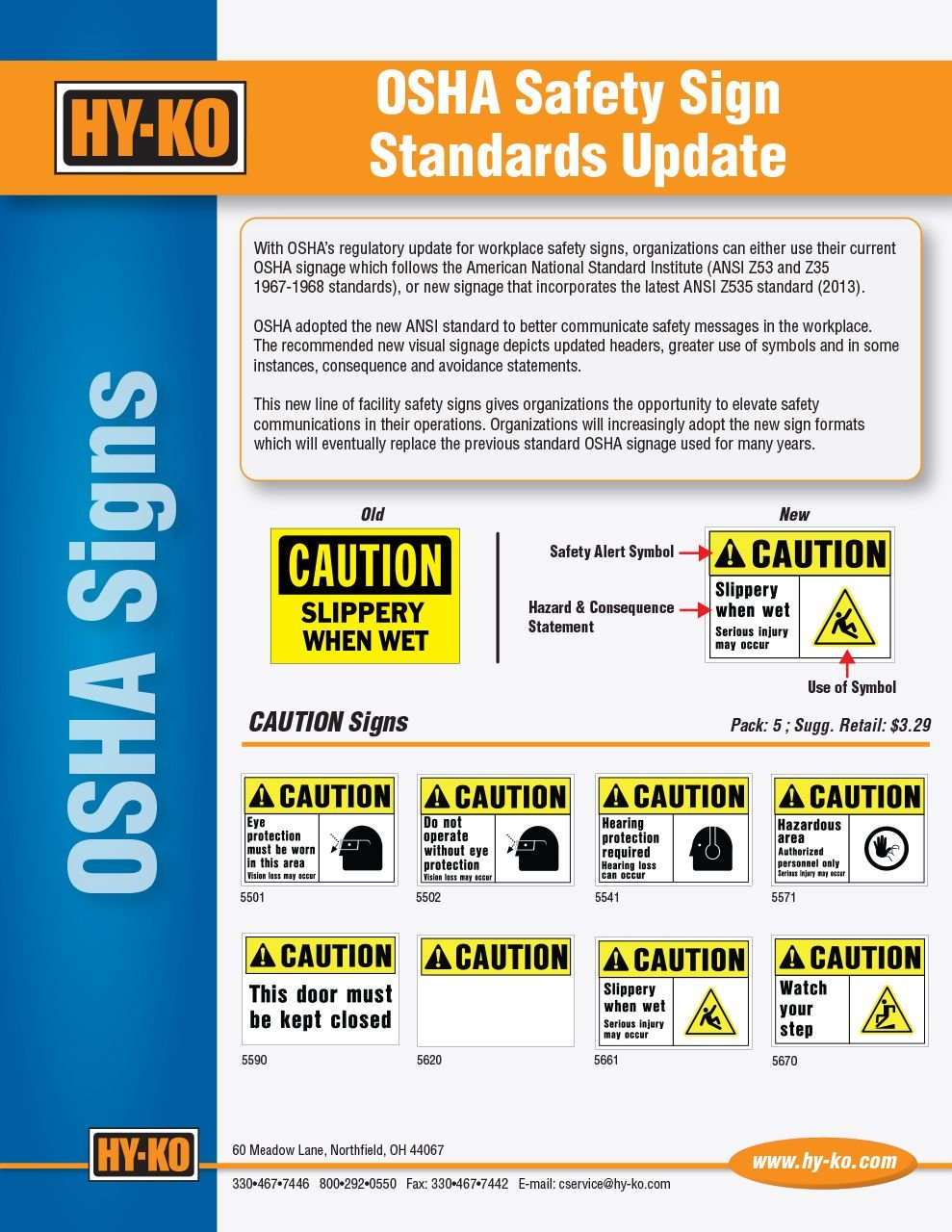 OSHA Safety Sign Standards Update