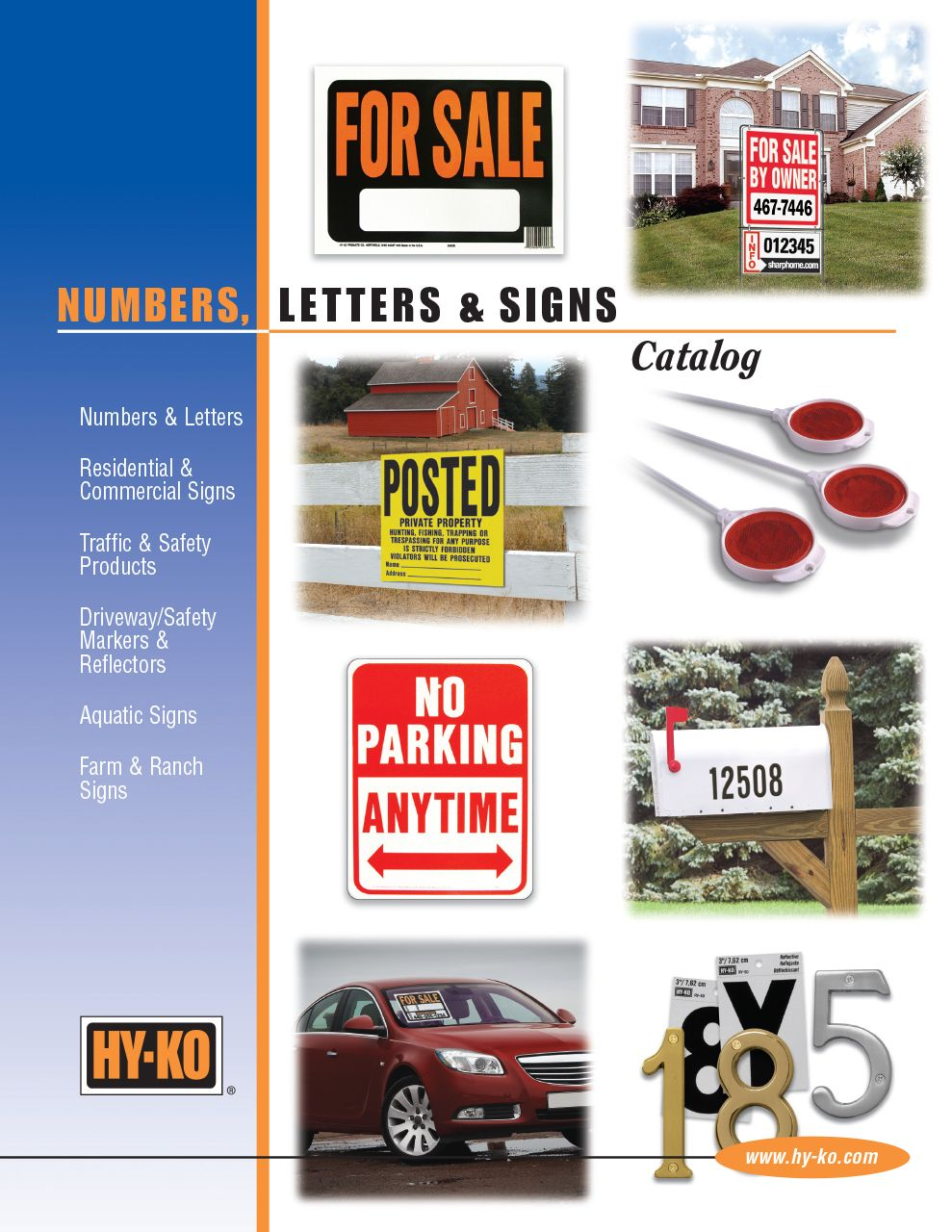 Numbers, Letters, and Signs Catalog