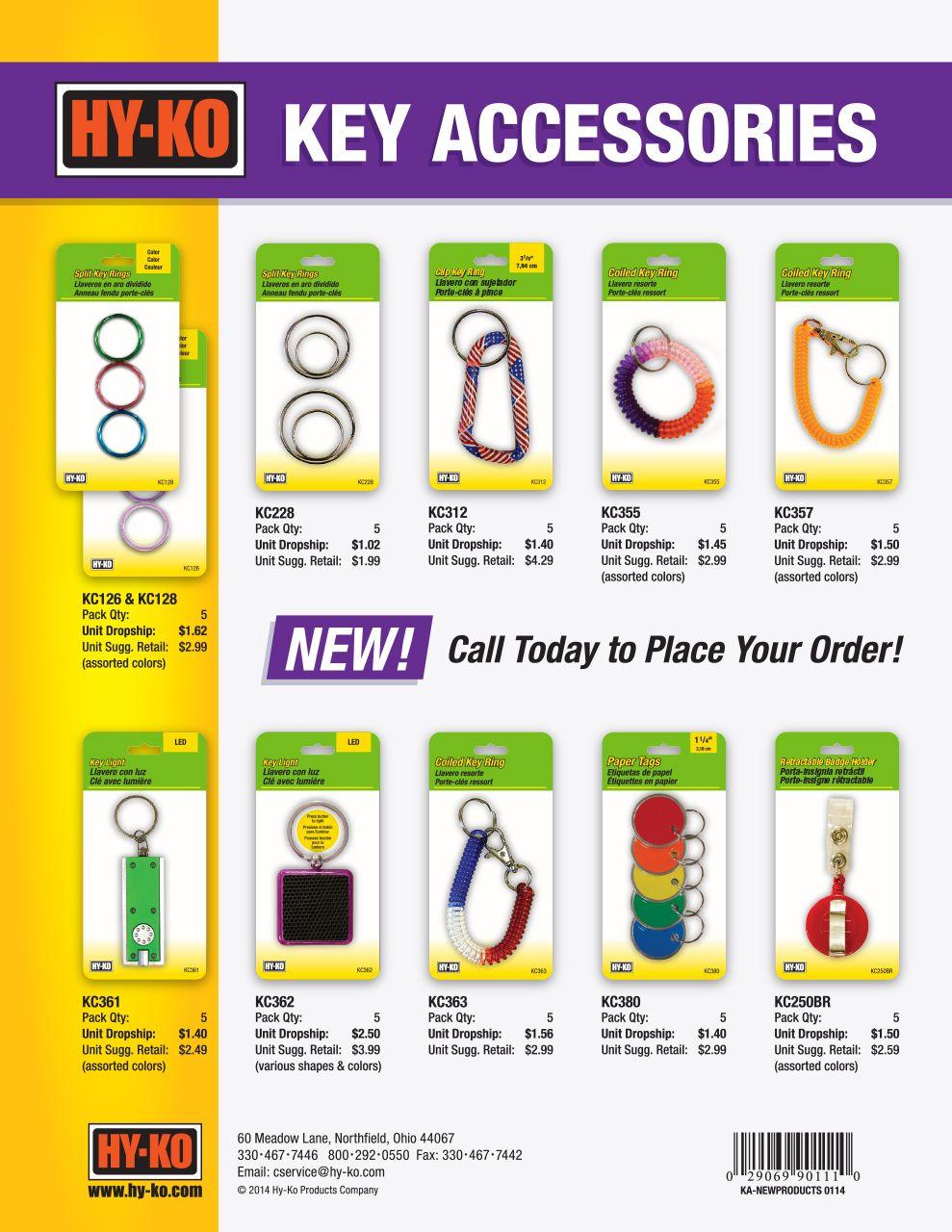 New Key Accessories