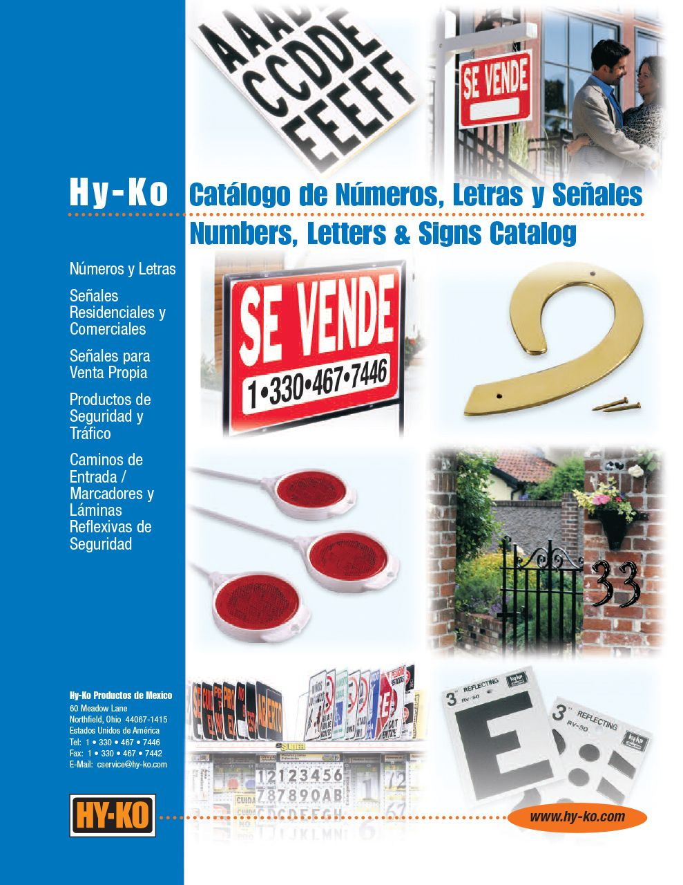 Numbers, Letters, and Signs Spanish Catalog