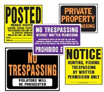 Posted signs cluster-01