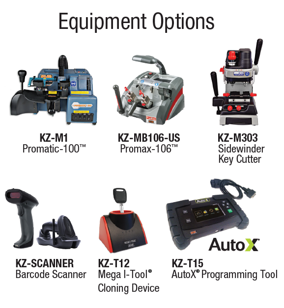 chipkey equipment options