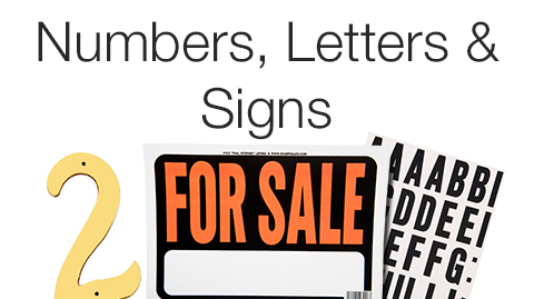 Numbers, Letters & Signs